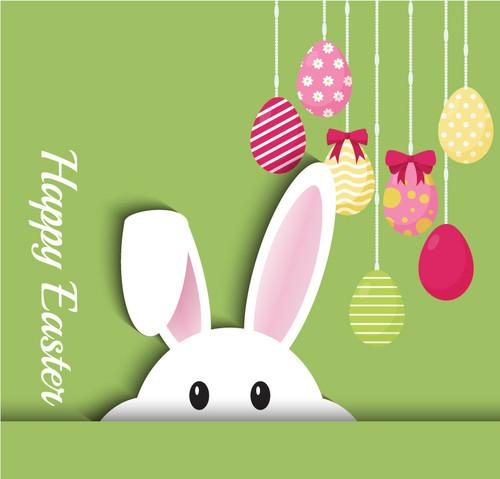 Easter Backdrop 7030 bunny church banner