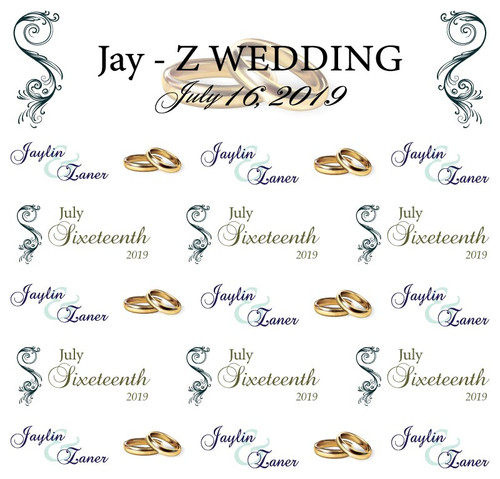 Wedding Ring Wedding Backdrop 4003