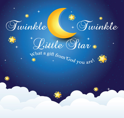 Baby Shower Backdrop 4004 Twinkle_Twinkle_Little_Star_What_a_gift_from_God_you_are