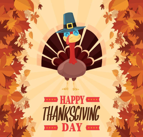 Thanksgiving Backdrop 4017