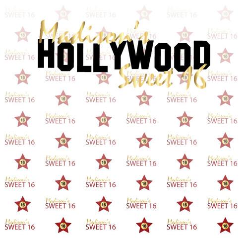 Hollywood Sweet 16 Backdrop 4023