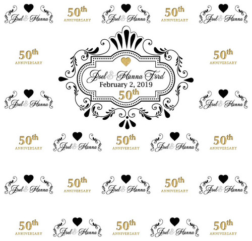 Anniversary Backdrop 5058