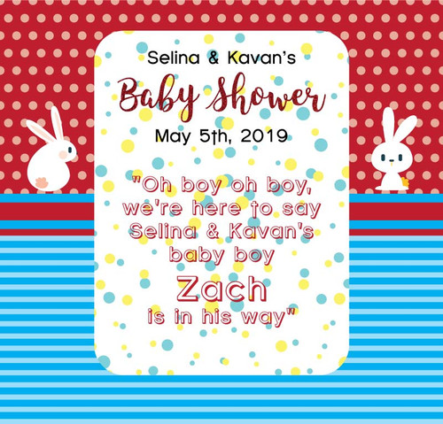 Baby Shower Backdrop 5050