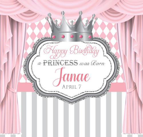 Birthday Backdrop 5094, Princess_Curtains_Stripe_Diamond_PinkSilver