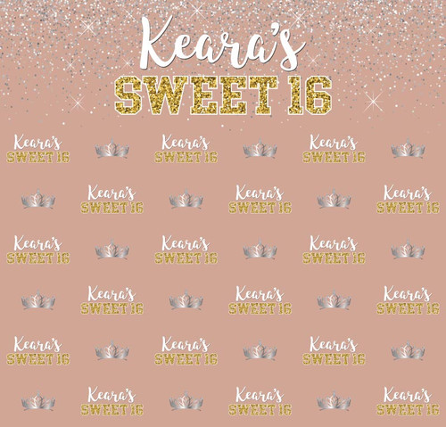 Sweet 16 Backdrop 5056, Sweet16_Bday_Sparkles_Glitter_GD,-SV,-WH,-Apricot