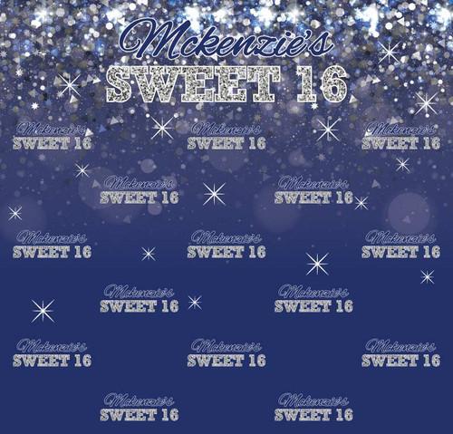 Sweet 16 Backdrop 5076, Sweet16_Sparkles_Confetti_NavySilver