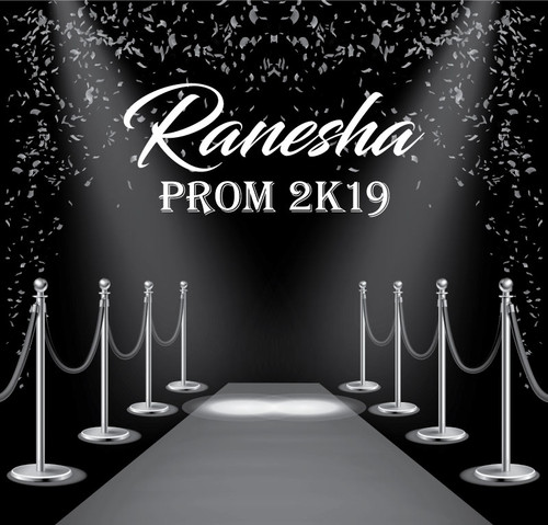 Prom Backdrop 5101, Prom_Hollywood_Spotlight_Confetti_2K19_BlackSilver