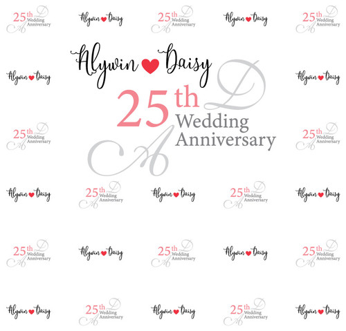 Anniversary Backdrop 5115, Anniversary_Heart_RedGrayBlack