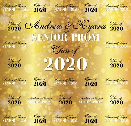 Sweet 16 Backdrop 5118, SeniorProm_Classof2020_Lights_Gold,Black,White