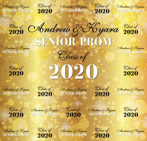 Sweet 16 Backdrop 5118, SeniorProm_Classof2020_Lights_Gold,Black,White