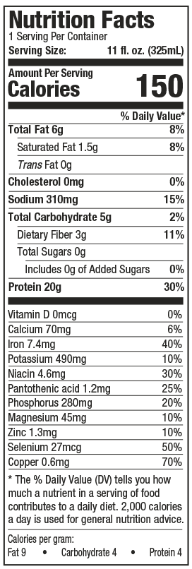 Supplement Facts - Decadent Chocolate