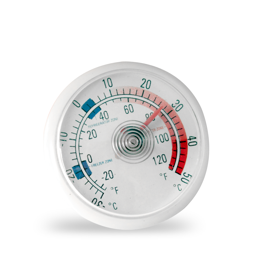 Bi-Metal Swivel Refrigerator / Freezer Thermometer