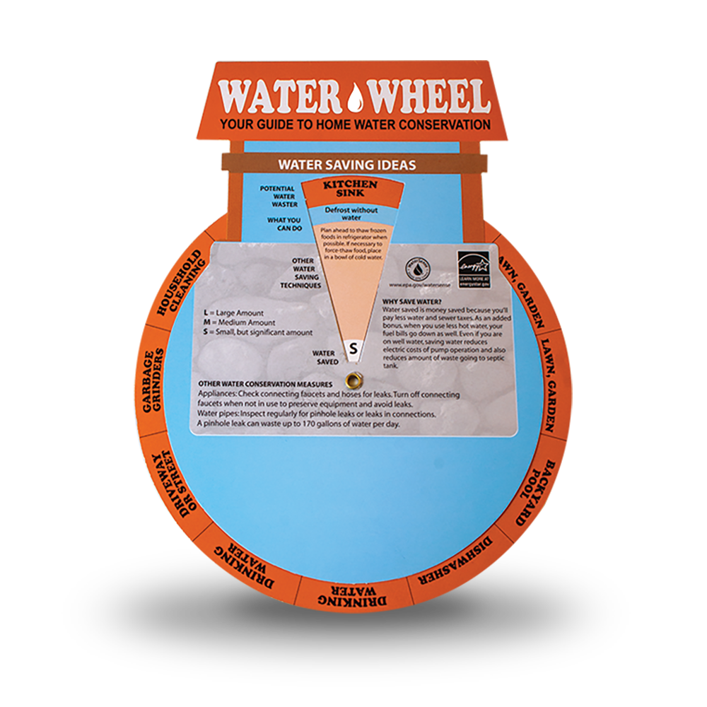 Water Education Wheel Promotional Product