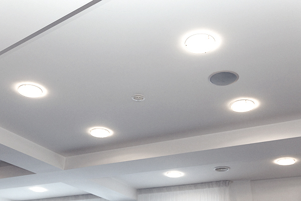 Flood leds in recessed ceiling lights