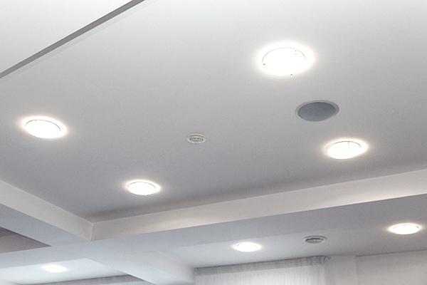 Flood leds in recessed ceiling lights