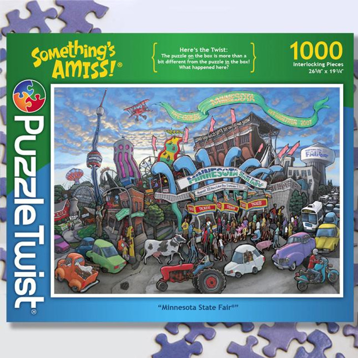 Locally made and designed PuzzleTwist puzzle Minnesota State Fair Minneapolis Saint Paul Bloomington