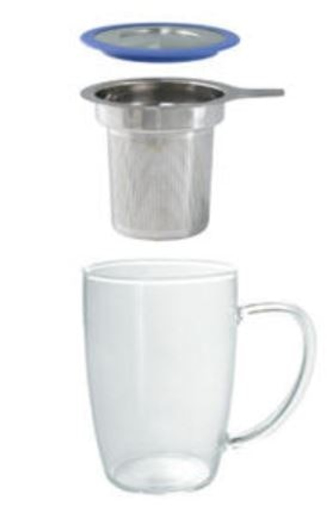 New Leaf Tall Mug with Infuser & Lid