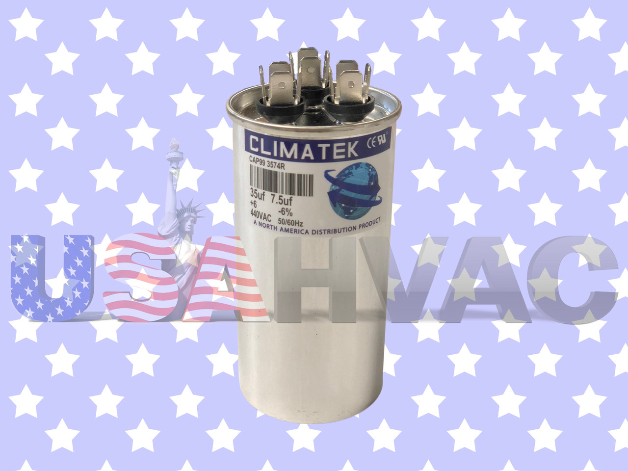 45+7.5uF MFD Motor Dual Run Capacitor for American Standard Air Conditioner HVAC