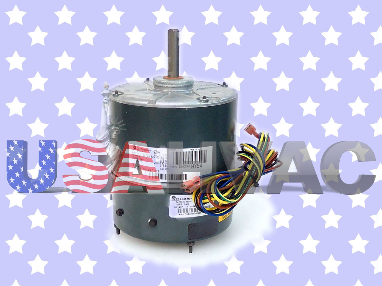 51-101548-07, 5SME39HLHY94 - OEM Ruud Rheem Weather King Furnace Blower  Motor