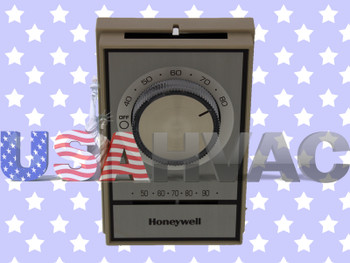 1C66-2TO-241 1D22 1D61-1&-41 - OEM Honeywell Electric Line Voltage Thermostat Beige