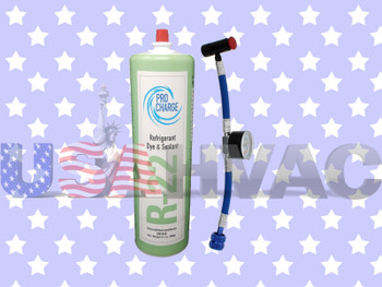 R22-PRO R-22 -  Pro ChargeRefrigerant with UV Dye & Leak Sealant Gauge Included