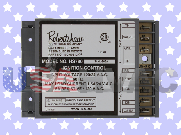 6245130 H5780-17NR-306A 100-00812-37 -  Robertshaw Ignition Control Board