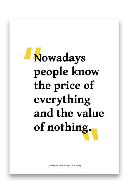 Oscar Wilde - The Picture Of Dorian Grey - Value of Nothing