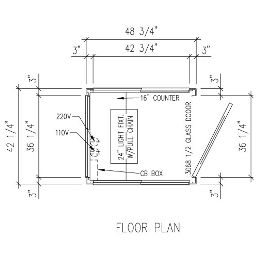Detailed Floor Plan - 4' x 3' Booth
