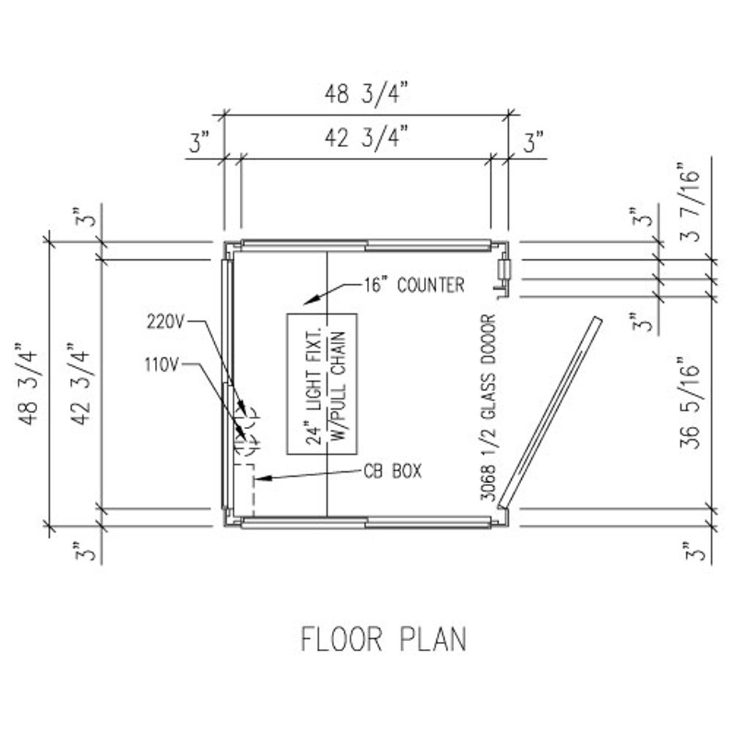 Detailed Floor Plan - 4' x 4' Booth