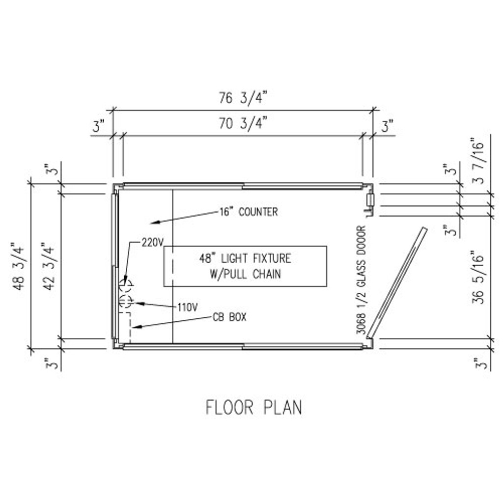 Detailed Floor Plan - 4' x 6' Booth
