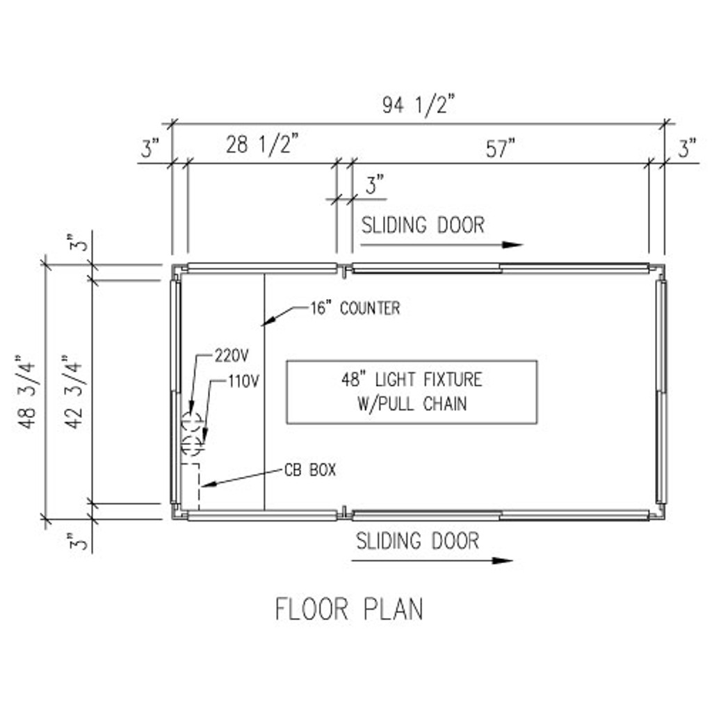 Detailed Floor Plan - 4' x 8' Booth