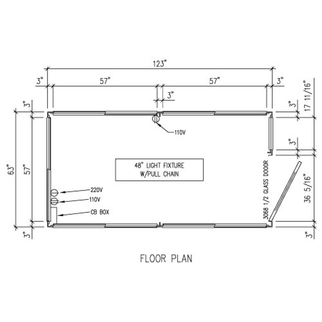 Detailed Floor Plan - 5' x 10' Booth