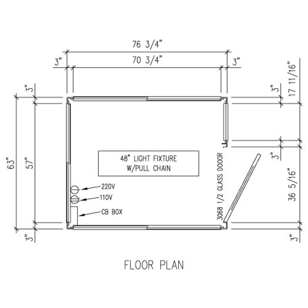 Detailed Floor Plan - 5' x 6' Booth