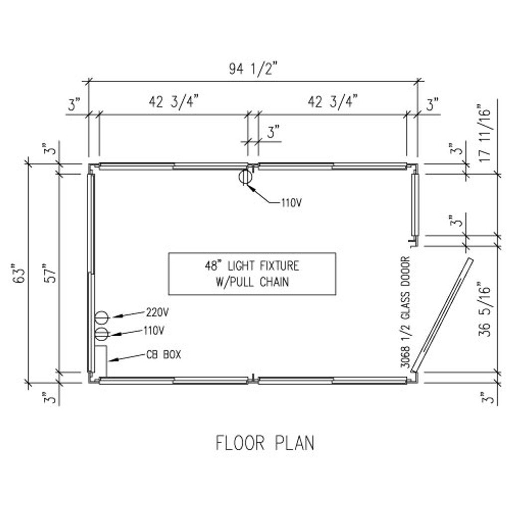 Detailed Floor Plan - 5' x 8' Booth
