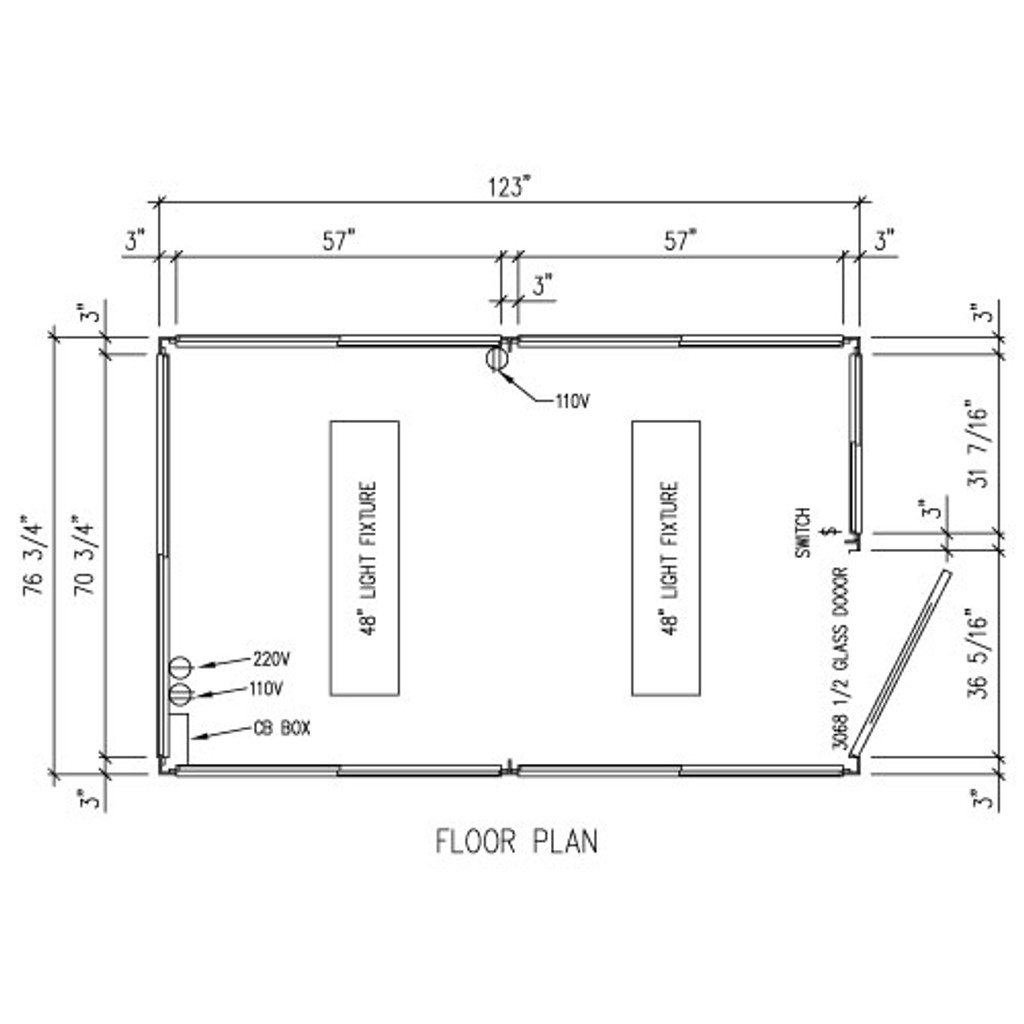 Detailed Floor Plan - 6' x 10' Booth