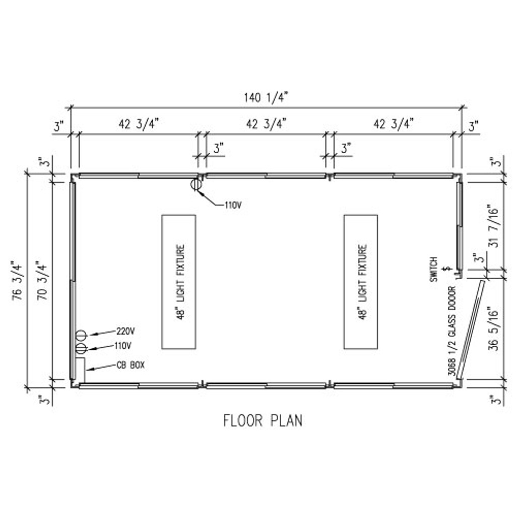 Detailed Floor Plan - 6' x 12' Booth