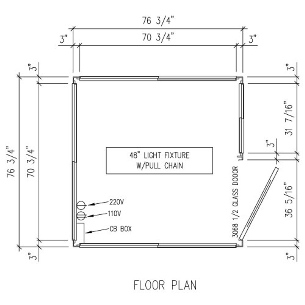 Detailed Floor Plan - 6' x 6' Booth