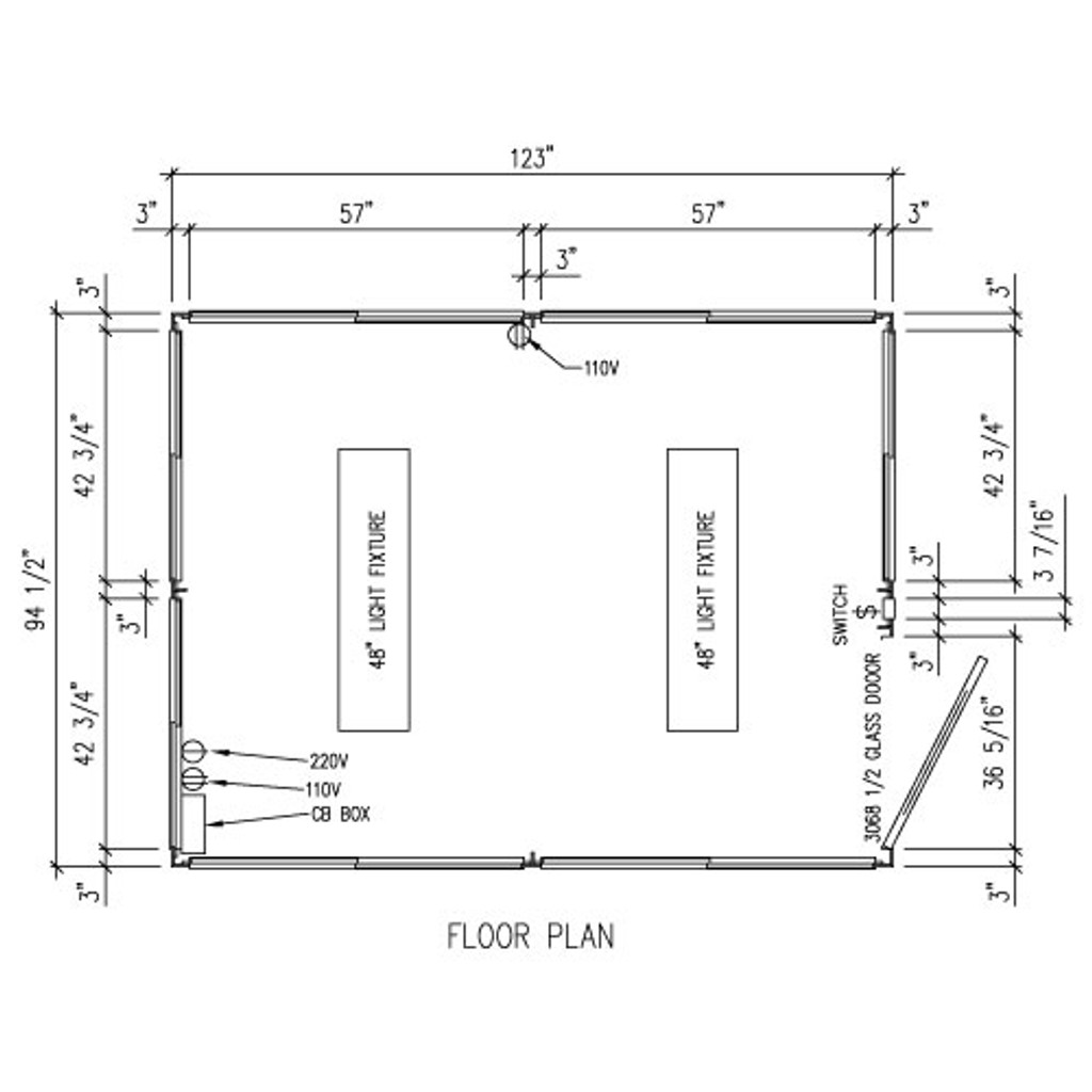 Detailed Floor Plan - 8' x 10' Booth
