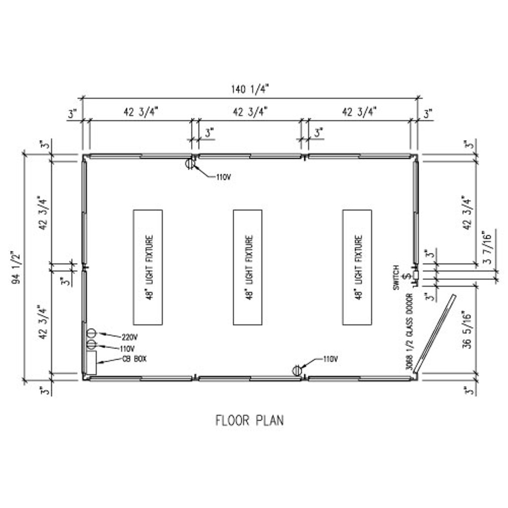 Detailed Floor Plan - 8' x 12' Booth