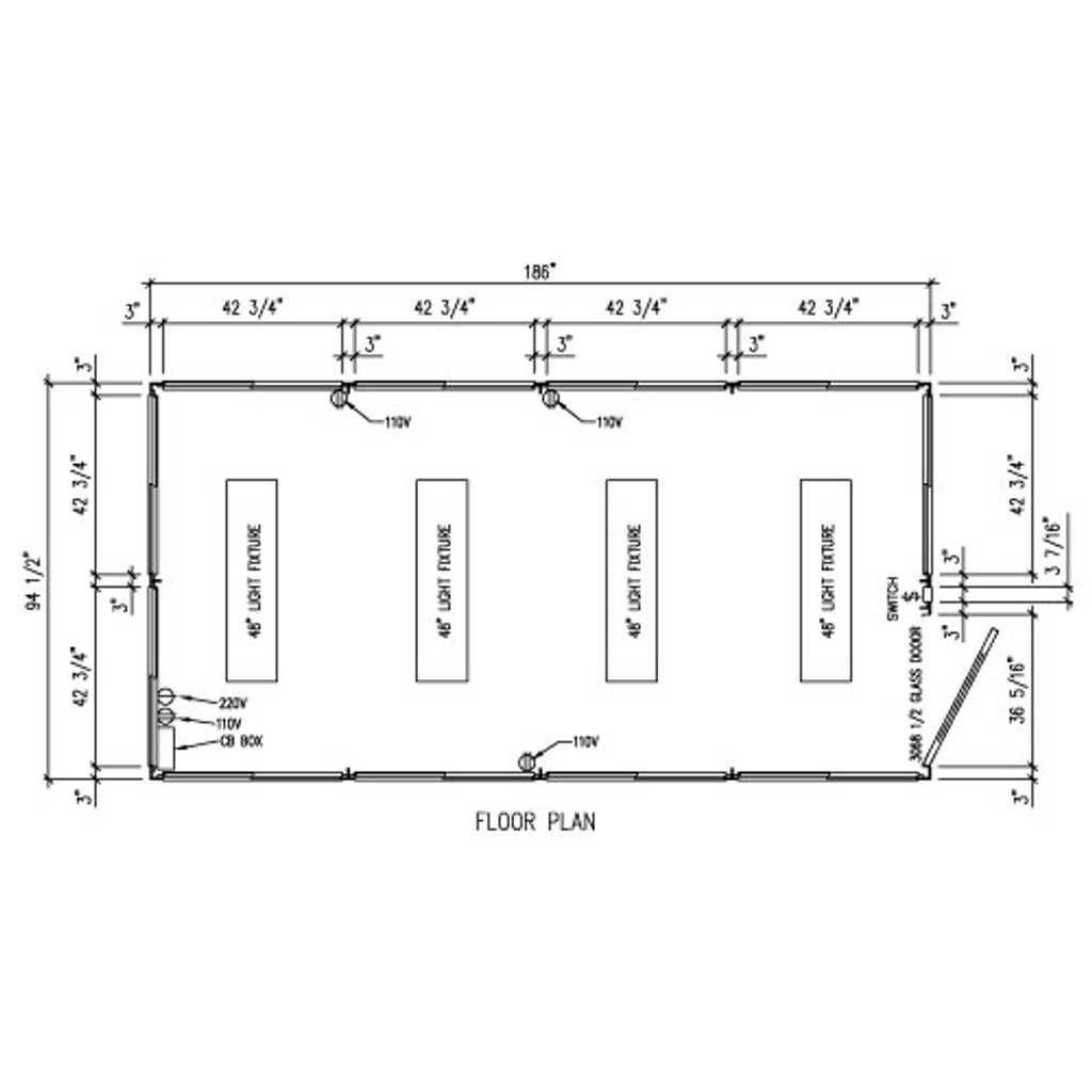 Detailed Floor Plan - 8' x 16' Booth