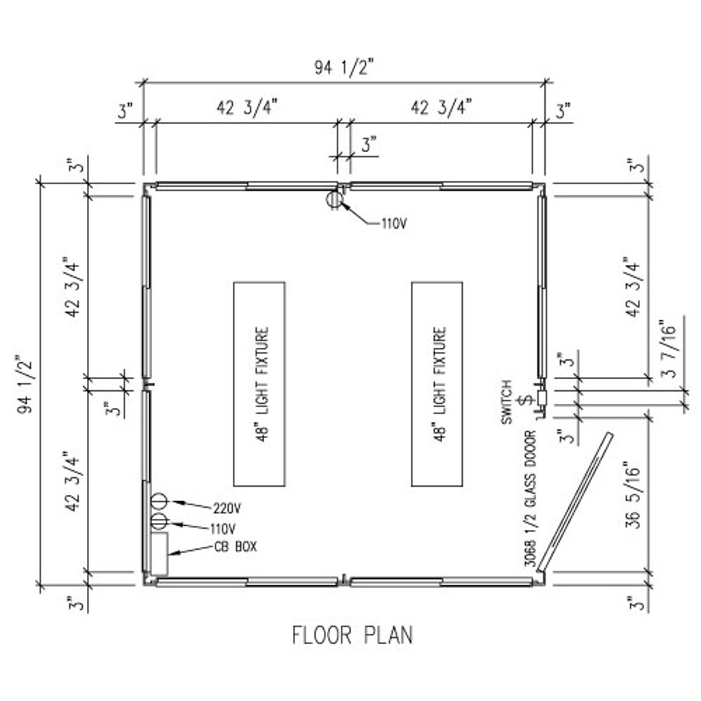 Detailed Floor Plan - 8' x 8' Booth