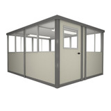 8' x 10' Booth with Swing Door