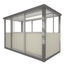4' x 8' Booth with Sliding Door