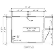 Detailed Floor Plan - 6' x 8' Booth