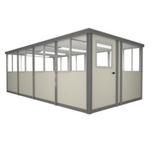 8' x 16' Booth with Swing Door