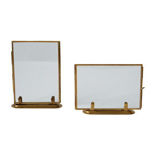 Brass and Glass Standing Frame Collection