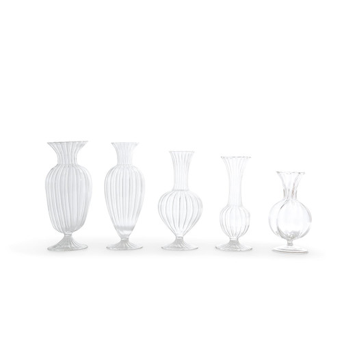 Glass Fluted Vase Collection
