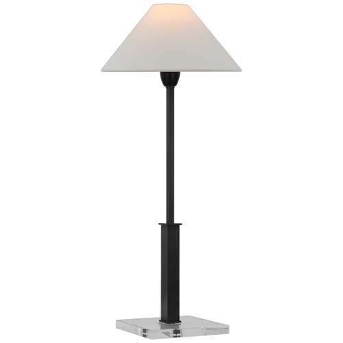 Asher Crystal and Bronze Lamp