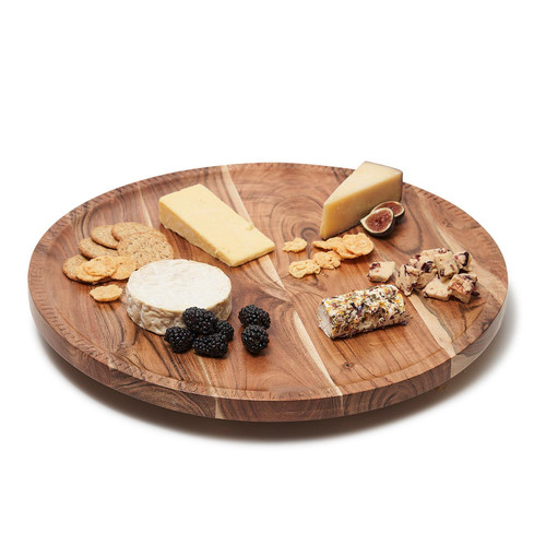 Rotating Charcuterie with Hand Etched Border