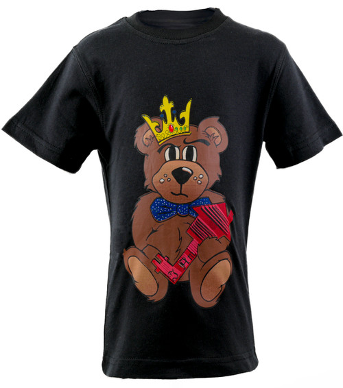The Teddy Tee  Black